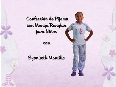Confección de Pijama para niñas con manga Ranglan