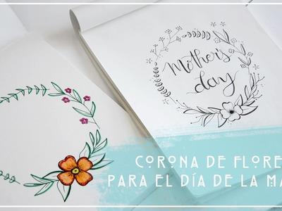 CORONA DE FLORES PARA EL DÍA DE LA MADRE. idea de regalo DIY