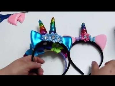 Diadema Unicornio ( Ensamblada con Material Prefabricado)