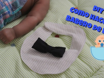 DIY como hacer babero de bebe