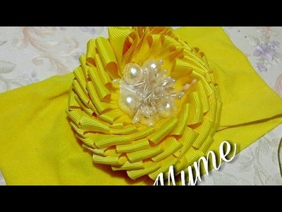 Flor De Liston Plisado. tutorial en vivo. bows. VINCHAS. balacas. fábrica flowers
