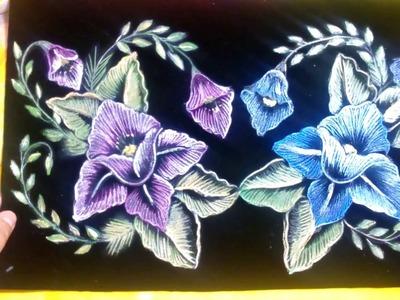 Flores en pirograbado Sonia R.A.