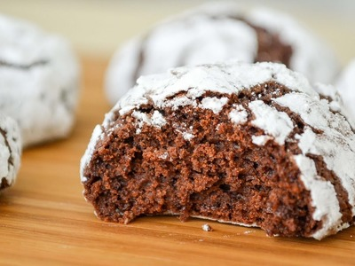 Galletas Craqueladas de Chocolate ✩ Receta super Fácil || Tan Dulce