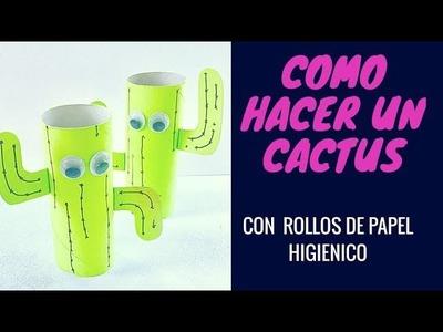Green ART: Paso A Paso Cactus Reutilizando Rollo De Papel Higiénico