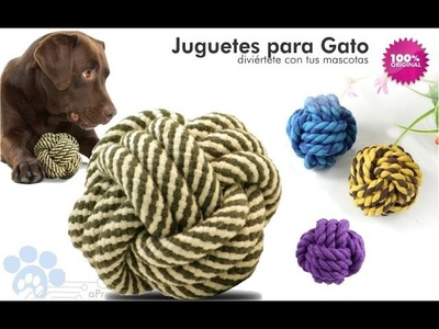 Juguete Bola en Lazo de algodón para Mascota - PreciosdeRemate