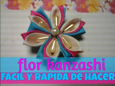 KANZASHI FLOWER.FLOR KANZASHI.flores de liston
