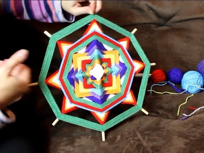 Mandala Ojos De Dios tutorial part 2