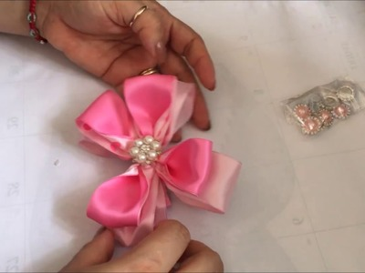 Moño de  rosado