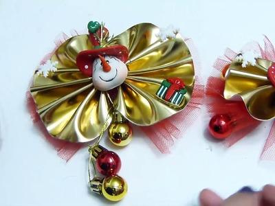 Moños para el Cabello  de Navidad  en Cuerina ( Imitación cuero )
