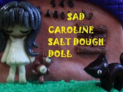 Muñeca triste de Pasta de Sal (Sad Caroline).Salt Dough little doll
