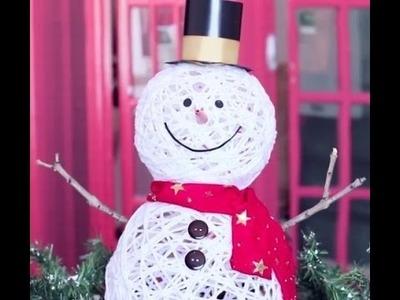 Muñeco de nieve con estambre muy facil #2