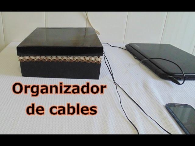 Organizador de cables y cargadores - DIY