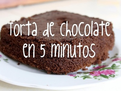 PASTEL de Chocolate en 5 MINUTOS con MICROONDAS - Chocolate CAKE in 5 MINUTES with MICROWAVE