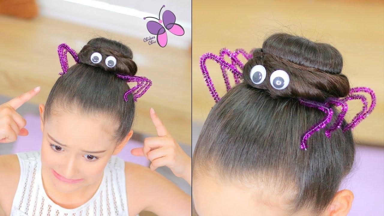 Peinado para Halloween de Araña