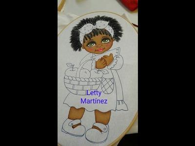 Pintura en Tela   Cabello Afro Largo   Negrita Sandía 3