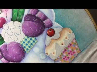 Pintura En Tela Muñeco De Nieve # 4 Con Cony