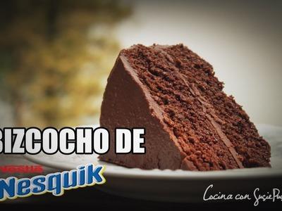 Receta bizcocho de chocolate NESQUIK || ★ FÁCIL y RÁPIDO al horno★ || Cocina con Susan