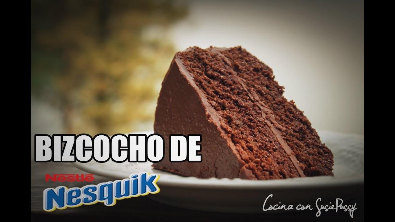 Receta bizcocho de chocolate NESQUIK    ★ FÁCIL y RÁPIDO al horno★    Cocina con Susan