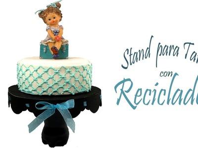 ✂ STAND PARA TARTA CON RECICLADOS MUY FÁCIL ???? Sabor de Fiesta