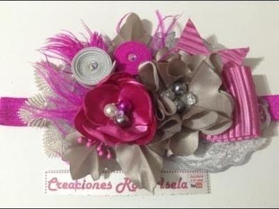 Tiara pequeña con flores y  detalles PARTE 1 VIDEO No.518 creacionesrosaisela