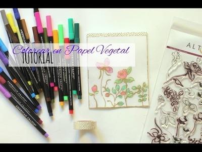 Tutorial colorear en papel vegetal