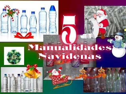 5 manualidades navideñas con envases plasticos de refresco. Los Hobbies de Yola