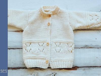 Abrigo para niños tejido en dos agujas (0-12 meses) Vídeo 2 Soy Woolly