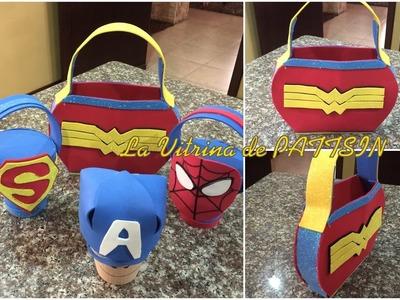 Accesorios Mujer Maravilla, cartera dulcero o bolsa de regalo