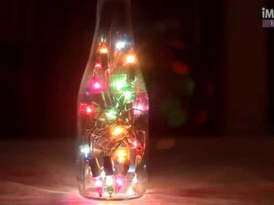 Botellas y luces para una bella lámpara | DECORACIÓN | @iMujerHogar