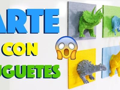 Cabezas de Dinosaurio - esculturas caseras y ARTE para colgar en la PARED