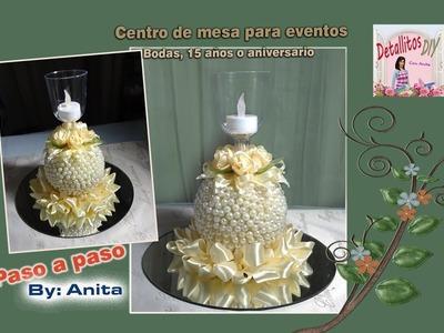 Centro de mesa para eventos especiales (Bodas, 15 años, Aniversario. )