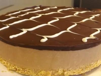 Cheesecake de chocolate (sin horno)   Tarta fría de Chocolate, la receta más fácil y rápida