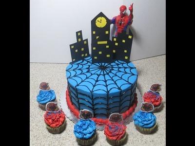 Cómo Cubrir Un Pastel Con Telaraña Muy Fácil  (Hombre Araña) - Madelin's Cakes