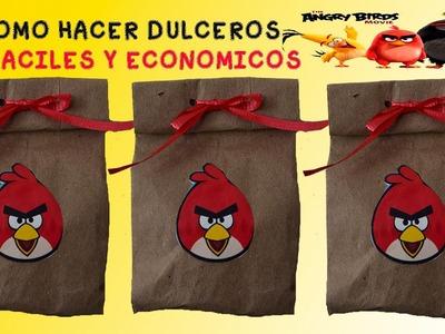 COMO HACER DULCEROS ANGRY BIRDS FACILES Y ECONOMICOS