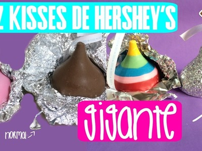 COMO HACER KISS GIGANTE DE CHOCOLATE || KISSES DE CHOCOLATE GIGANTE || NIVEL DELICIA