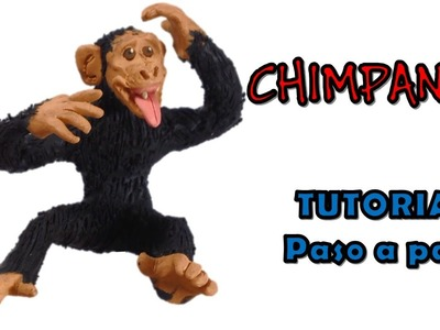 Como hacer un chimpance de Plastilina. How to make a chimp with Plasticine