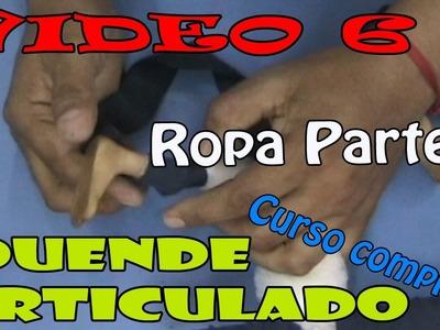"""Como hacer un Duende Articulado """"Ropa parte 1""""  Video #6"""