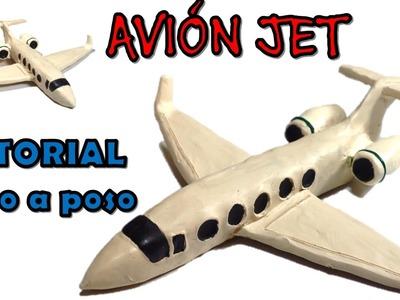 Como hacer una avión JET de plastilina. how to make an JET airplane with clay