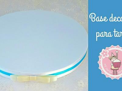 Como hacer una base decorada para tartas | Mi tarta preferida