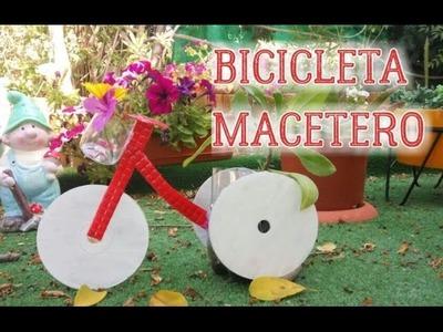 Cómo hacer una bicicleta de macetero