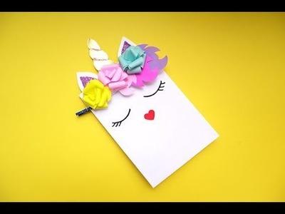 Cómo hacer una bolsa de papel -  decorado como unicornio. (Y cómo hacer flores de papel✿