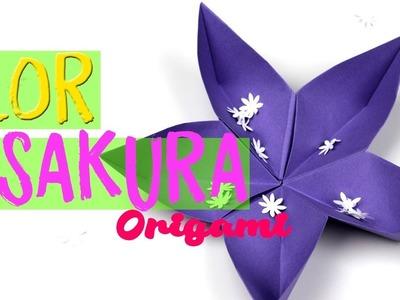 ¿Cómo hacer una flor de origami sakura? flores de papiroflexia paso a paso