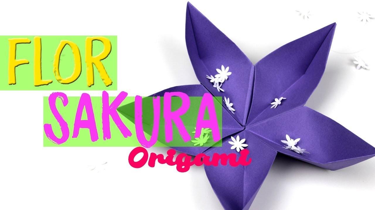 Cómo Hacer Una Flor De Origami Sakura Flores De Papiroflexia Paso A