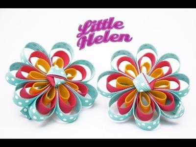Cómo hacer una flor de varios colores con cinta gross
