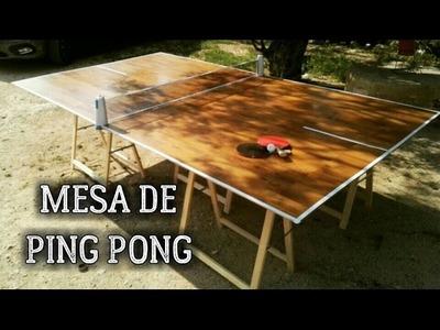 Cómo hacer una mesa de ping pong casera fácil con parquet