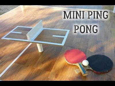 Cómo hacer una mesa de ping pong mini