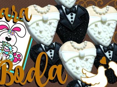 Como hacer una paleta para boda de bombón - bomgoletas - Super fácil