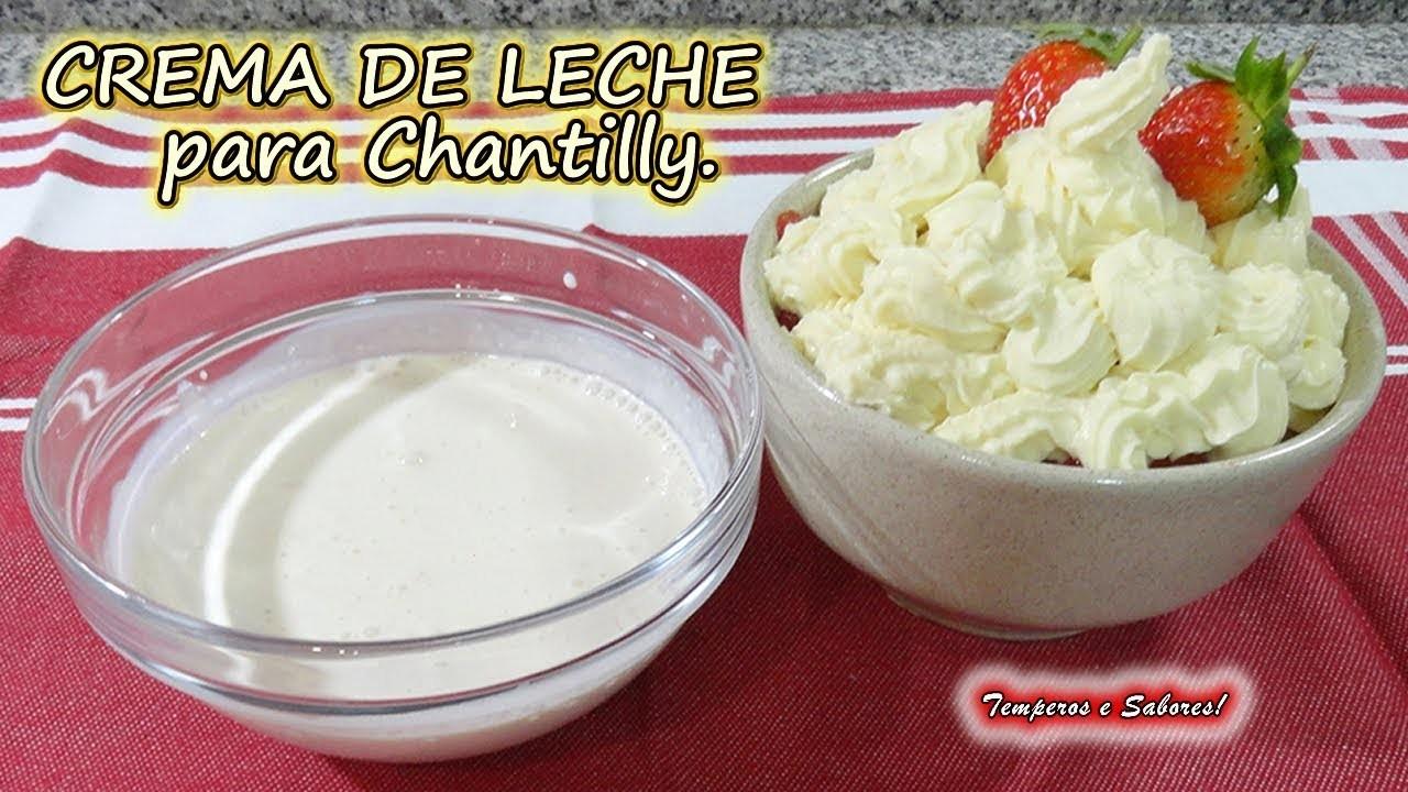CREMA DE LECHE para Chantilly, receta con solo 2 ingredientes y de licuadora fácil y perfecta
