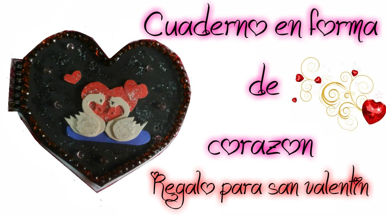 Cuaderno en forma de corazón Regalo San Valentin