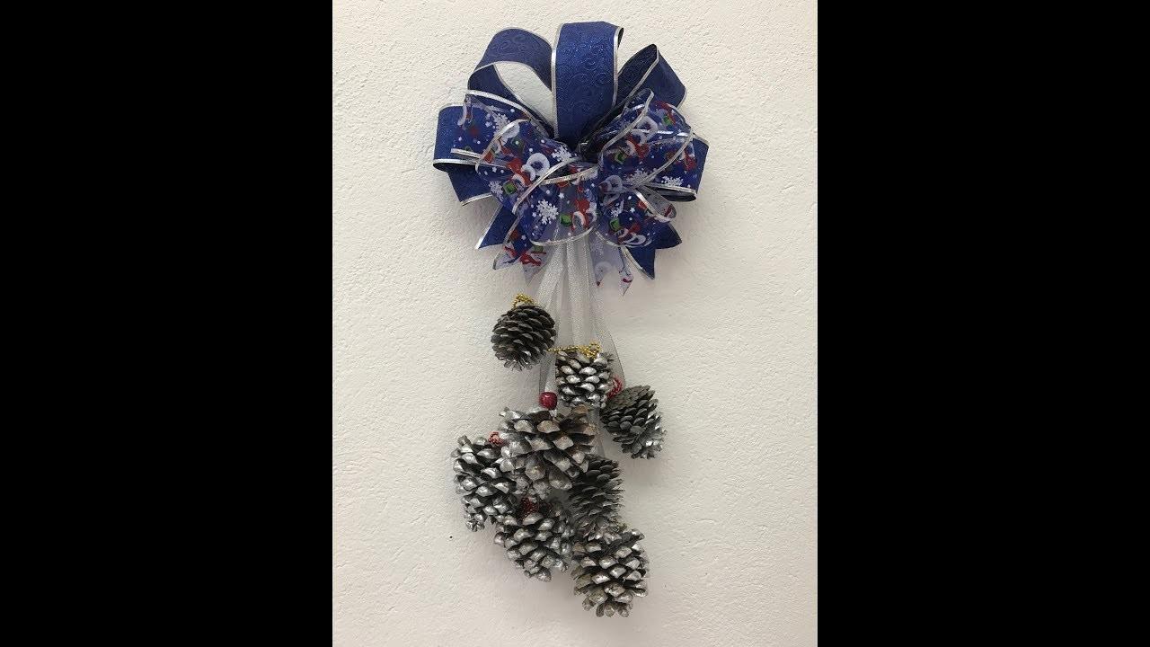 Decoración con piñas de pino para navidad Decoration with pine cones for chritsmas